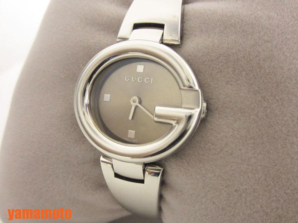 GUCCI グッチ レディース ウォッチ 腕時計 バングル グッチシマ 134.5 YA134503 未使用品 新品 【中古】