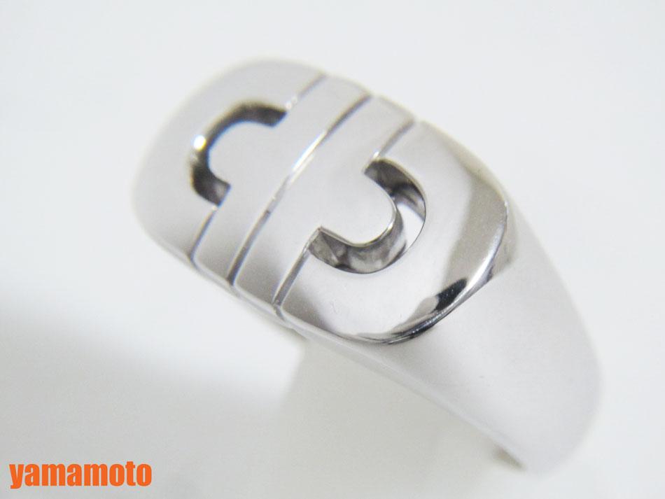 BVLGARI ブルガリ パレンテシ リング 指輪 750 K18 WG ホワイトゴールド 美品 #12 美品【中古】
