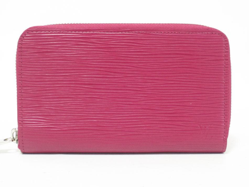 LOUIS VUITTON ルイウ゛ィトン エピ ジッピー・コンパクト ウォレット ファスナー財布 フューシャ M60424 超美品【中古】