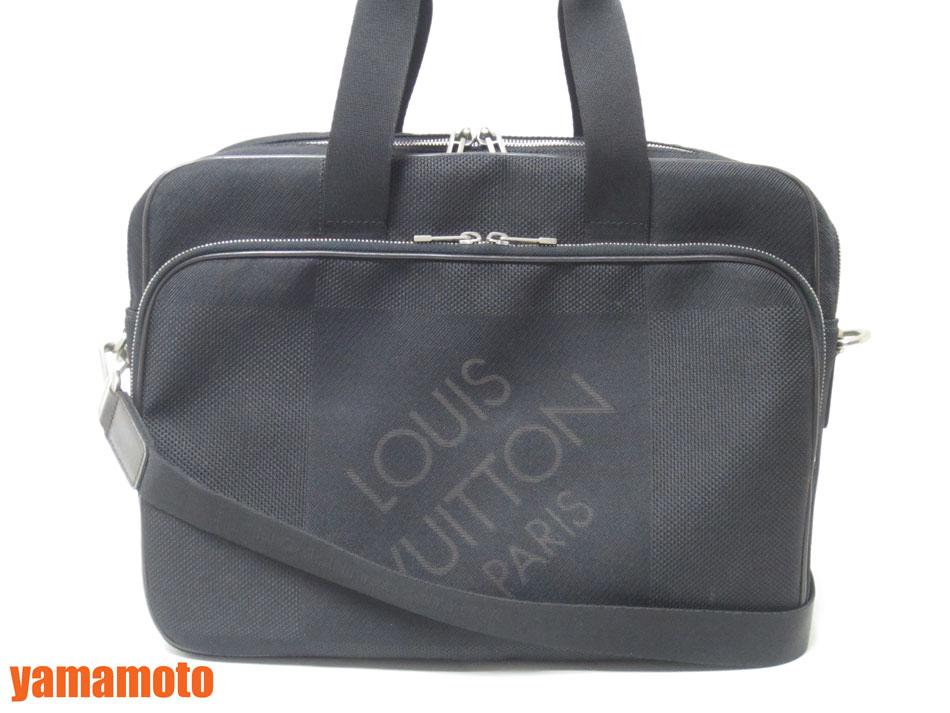 LOUIS VUITTON ルイヴィトン ダミエジェアン ノワール 黒 アソシエGM ビジネスバッグ 2WAYバッグ 書類バッグ メンズ ショルダーストラップ N58035 【中古】