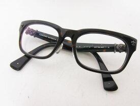 CHROME HEARTS クロムハーツ メガネフレーム 眼鏡 アイフェア GITTIN ANY?-A ブラック ブラウン 52□19-145【中古】