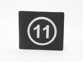 Maison Margiela メゾン マルジェラ 2つ折り メンズ 財布 札入れ レザー ブラック S35UI0435 P0047 超美品【中古】