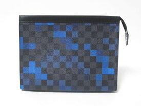 LOUIS VUITTON ルイウ゛ィトン ダミエグラフィット ポシェットヴォワヤージュMM セカンドバッグ クラッチバッグ ハンドバッグ メンズ ブラック ブルー N60174 新品【中古】
