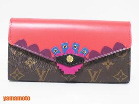 ルイヴィトン モノグラム ポルトフォイユサラ 長財布 2つ折り モノグラムトーテム Flamingo フラミンゴ ピンク M61348 新品【中古】