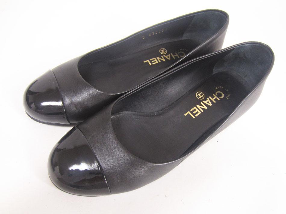 CHANEL シャネル パンプス カーフ ブラック 靴 レディース ココマーク CC フェイクパール 16B G32235 36C 美品 【中古】