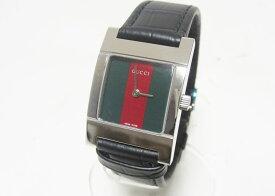 GUCCI グッチ レディース ウォッチ 腕時計 シェリーライン クロコダイルレザー クォーツ 7700L 超美品【中古】