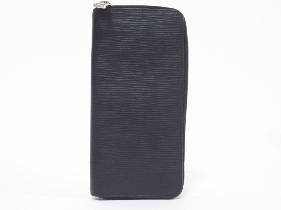 LOUIS VUITTON ルイヴィトン エピ ジッピー・ウォレットウ゛ェルティカル メンズ ファスナー財布 ブラック イニシャル M60965【中古】