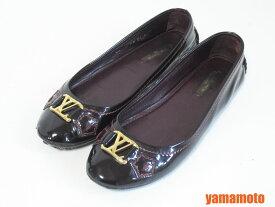 LOUIS VUITTON ルイヴィトン バレエシューズ レディース 靴 パテント ボルドー 靴 36M【中古】