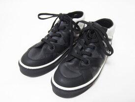 LOUIS VUITTON ルイヴィトン キッズ スニーカー 靴 ダミエグラフィット ブラック ホワイト 33 【中古】