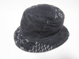 LOUIS VUITTON ルイヴィトン 帽子 ボネ・ダミエ ジャイアント ウェーブ モノグラム パッチワーク デニム 60 MP2746【中古】