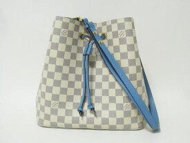 送料無料 LOUIS VUITTON ルイウ゛ィトン ダミエ アズール ネオノエ ショルダーバッグ 巾着 斜め掛け ブルーエ N40153【中古】