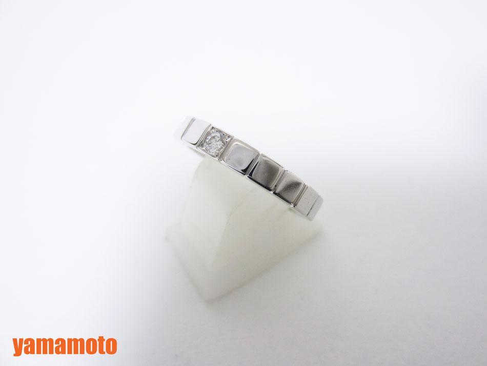 Cartier カルティエ ラニエール リング 指輪 レディース 1P ダイヤ 750 K18 ホワイトゴールド 49 美品 【中古】