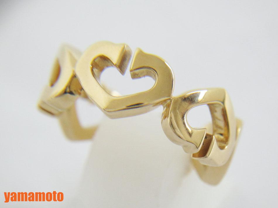 Cartier カルティエ Cハート リング 指輪 750 K18 YG イエローゴールド 49 美品 【中古】
