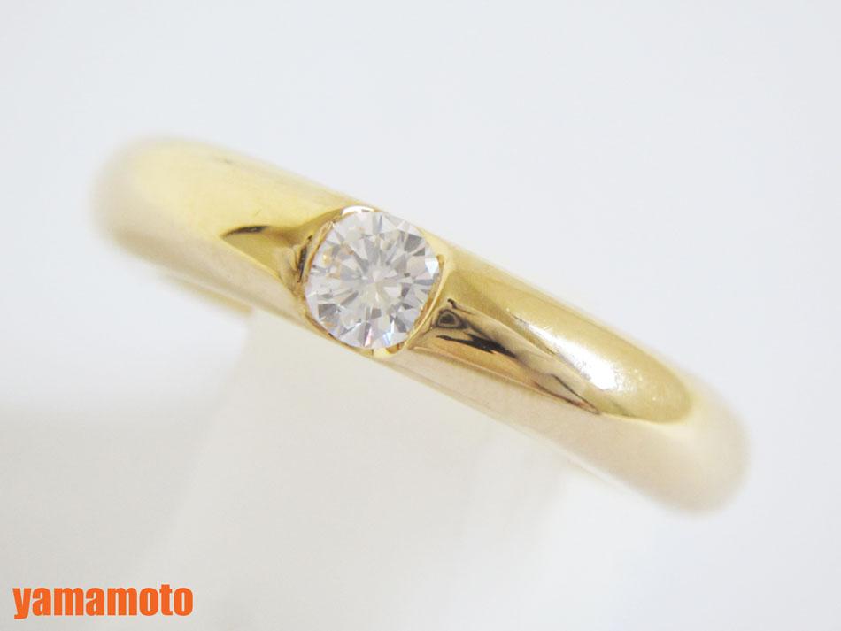 Cartier カルティエ エリプスリング 指輪 リング ダイヤモンド 0.25ct 750 K18 イエローゴールド 49 美品 【中古】
