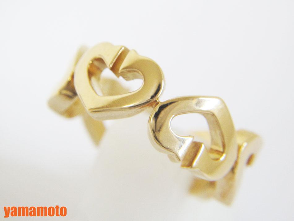 Cartier カルティエ Cハート リング 指輪 750 K18 YG イエローゴールド 50 美品 【中古】
