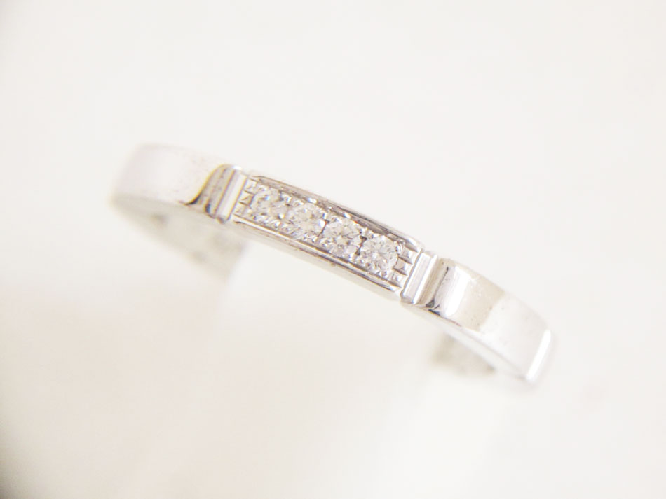 Cartier カルティエ マイヨンパンテール リング 指輪 4P ダイヤ 750 K18 WG ホワイトゴールド #50 【中古】