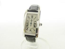 Cartier カルティエ タンクアメリカンSM レディースウォッチ 腕時計 750 K18 ホワイトゴールド 純正替えベルト付き W2601956 新品同様 【中古】