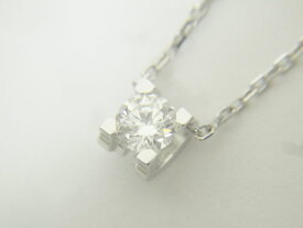 Cartier カルティエ C ドゥ カルティエ ネックレス ダイヤモンド 750 ホワイトゴールド 0.25ct Internally Flawless GIA鑑定書 CRN7413200 新品同様【中古】
