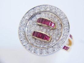 Van Cleef&Arpels VCA ヴァンクリーフ&アーペル リング 指輪 ダイヤ ルビー ダイヤモンド 750 K18 新品仕上げ【中古】