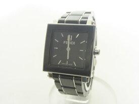 FENDI フェンディ クアドロ レディースウォッチ 腕時計 ブラック セラミック クォーツ 6200L【中古】