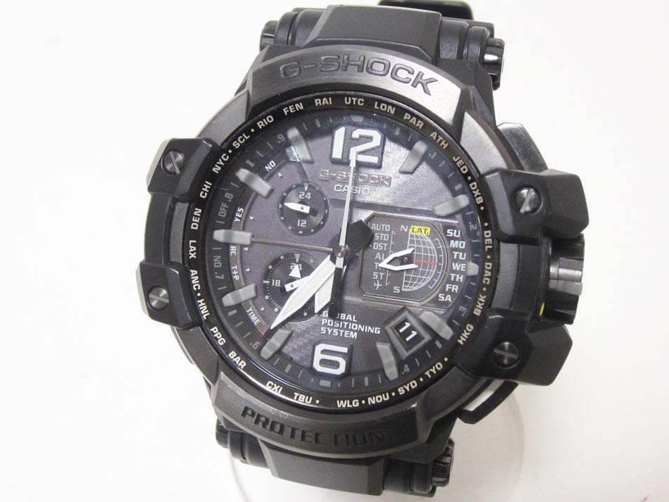 CASIO カシオ G-SHOCK Gショック 腕時計 スカイコップピット タフソーラー GPSハイブリッド 電波 GPW-1000-1BJF 美品【中古】