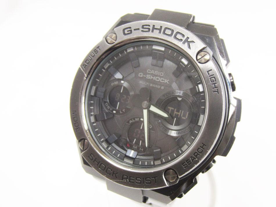 CASIO カシオ G-STEEL Gスチール 電波ソーラー メンズウォッチ 腕時計 タフソーラー GST-W110BD-1BJF 【中古】