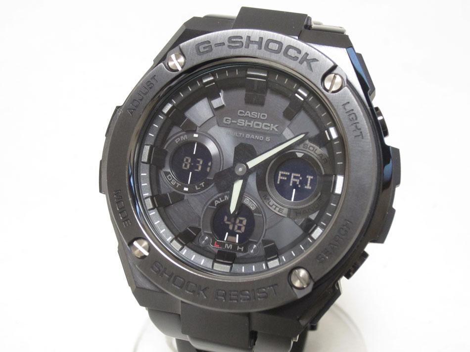 CASIO カシオ G-STEEL Gスチール 電波ソーラー メンズウォッチ 腕時計 タフソーラー GST-W110BD-1BJF 新品同様【中古】