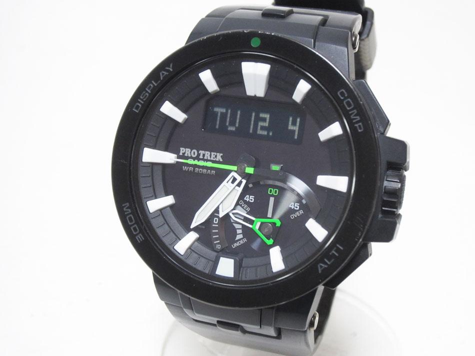 CASIO カシオ PROTREK プロトレック 電波ソーラー メンズウォッチ 腕時計 タフソーラー PRW-7000-1AJF 【中古】