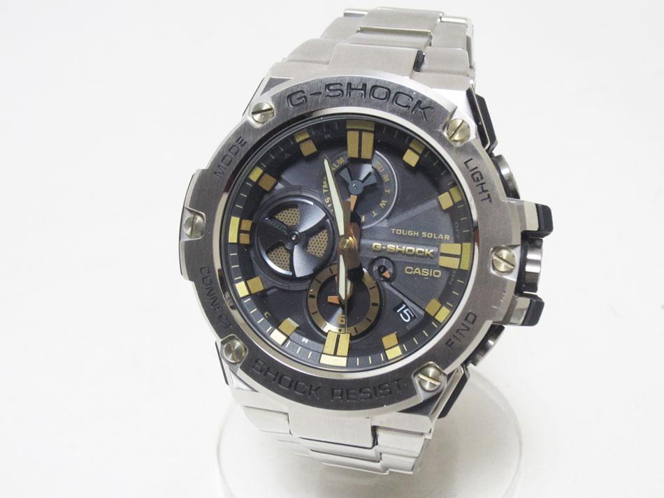CASIO カシオ G-STEEL Gスチール Bluetooth 搭載 タフネスクロノグラフ メンズウォッチ 腕時計 タフソーラー GST-B100 美品【中古】