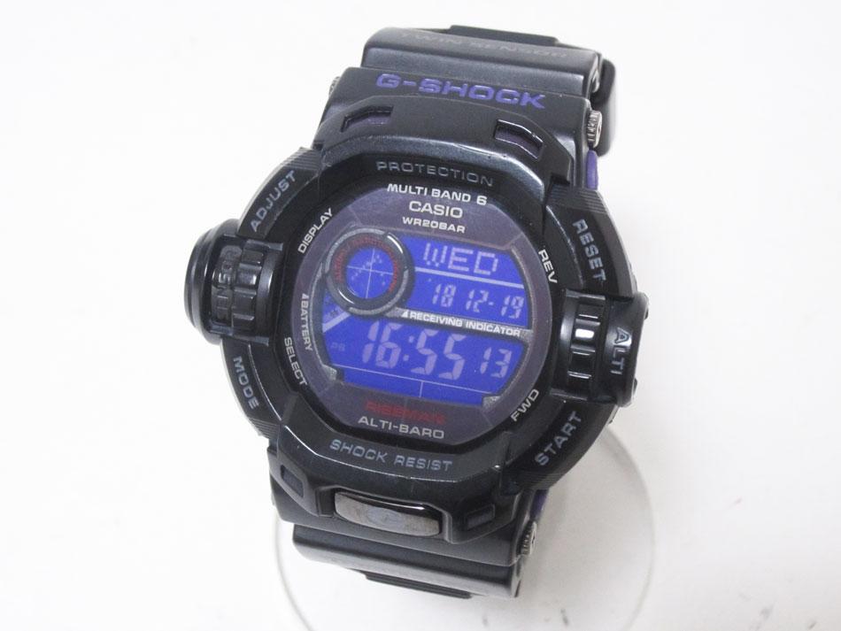 CASIO カシオ G-SHOCK Gショック RISEMAN ライズマン メンズウォッチ 腕時計 パープル タフソーラー 電波時計 GW-9200BPJ-1JF 【中古】