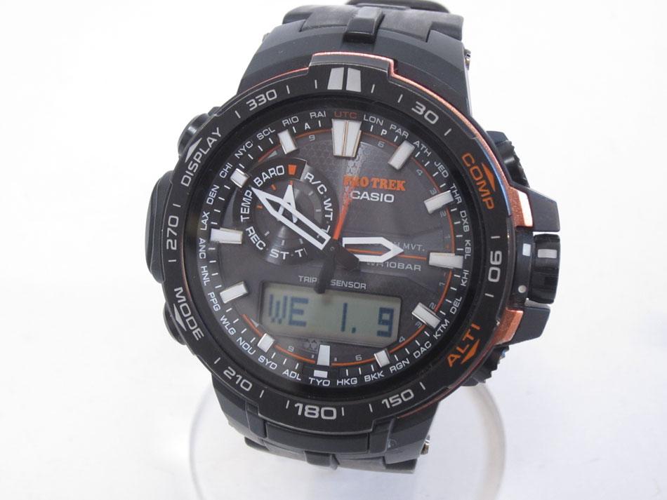 CASIO カシオ PROTREK プロトレック トリプルセンサー タフソーラー 電波 腕時計 メンズウォッチ PRW-6000Y 美品【中古】