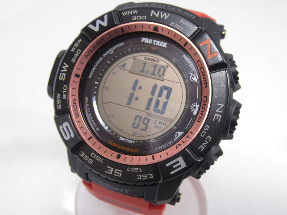 CASIO カシオ PROTREK プロトレック 電波ソーラー メンズ 腕時計 デジタル MULTI FIELD LINE PRW-3500Y-4JF 超美品【中古】