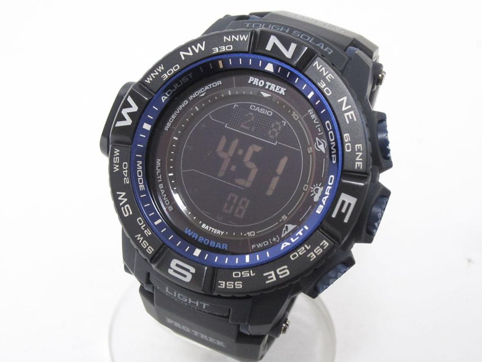 CASIO カシオ PROTREK プロトレック 電波ソーラー メンズ 腕時計 デジタル MULTI FIELD LINE PRW-3500Y-1JF 美品 【中古】
