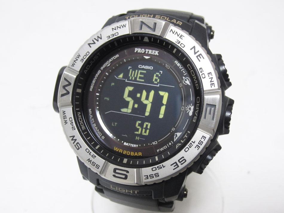 CASIO カシオ PROTREK プロトレック タフソーラー メンズウォッチ 電波 腕時計 PRW-3510-1JF 美品 【中古】