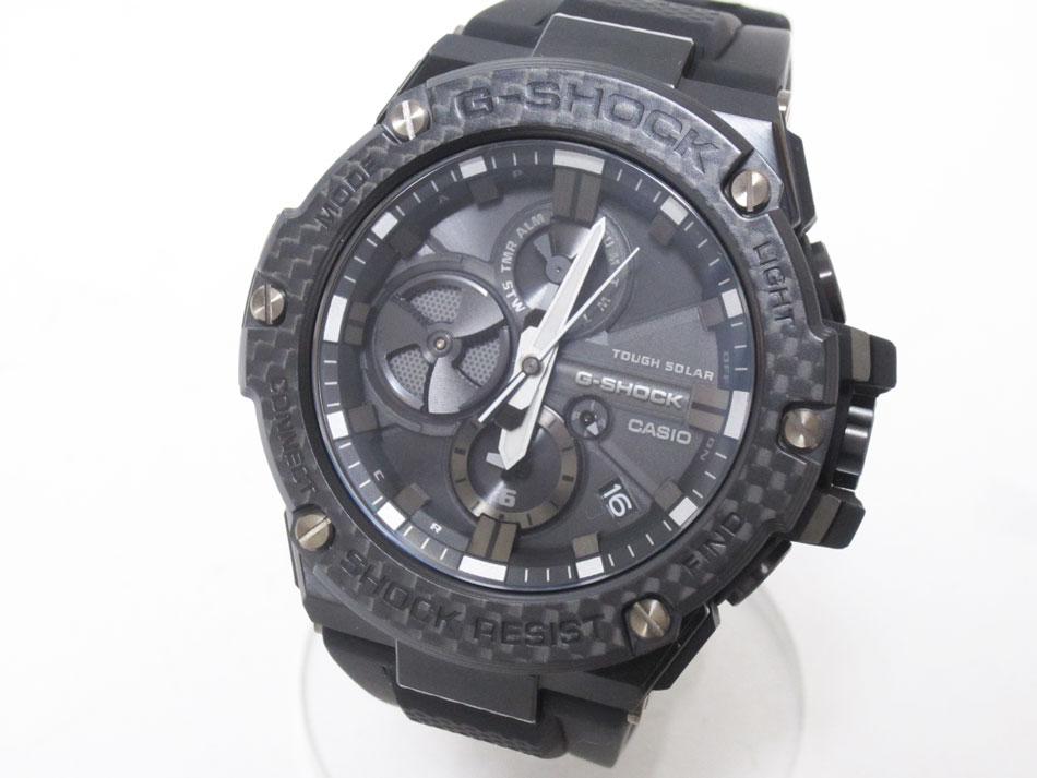 CASIO カシオ G-STEEL Gスチール Bluetooth 搭載 タフネスクロノグラフ メンズウォッチ 腕時計 タフソーラー GST-B100X-1AJF 新品同様【中古】