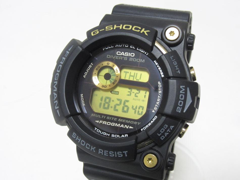 CASIO カシオ G-SHOCK Gショック FROGMAN フロッグマン メンズウォッチ 腕時計 25周年限定 Dawn Black ブラック ゴールド GW-225A 超美品【中古】