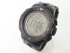 CASIO カシオ PROTREK プロトレック 電波ソーラー メンズ 腕時計 デジタル マルチバンド PRW-S3000-1JF 美品 【中古】