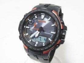 CASIO カシオ PROTREK プロトレック トリプルセンサー タフソーラー 電波 腕時計 メンズウォッチ PRW-6100Y-1JF 美品【中古】