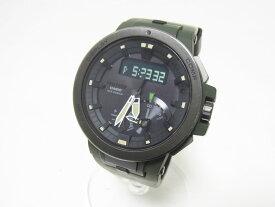 CASIO カシオ PROTREK プロトレック 電波ソーラー メンズウォッチ 腕時計 タフソーラー カーキ PRW-7000-3JF 美品 【中古】
