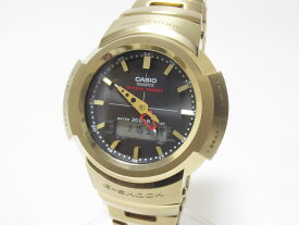 CASIO カシオ G-SHOCK Gショック BASIC タフソーラー 電波ウォッチ メンズウォッチ AWM-500GD ゴールド 超美品 【中古】
