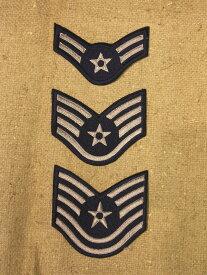 米空軍 兵下士卒カラー階級章各種(その2)