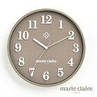 【送料無料】マリ・クレール壁掛け時計セピア(代引き不可商品)
