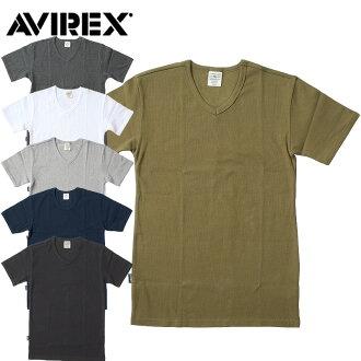 AVIREX 日常 V 脖子 T 恤 #6143501 (舊物料編號 #617351)]-點 10