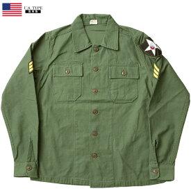 米軍タイプ OG-107 ファティーグシャツ 長袖 ジョンレノンModel ミリタリーシャツ メンズ コットン カジュアル アーミー ミリタリーアイテム JS088YNAM