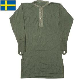 sale スウェーデン軍 アンダーシャツ オリーブ デッドストック