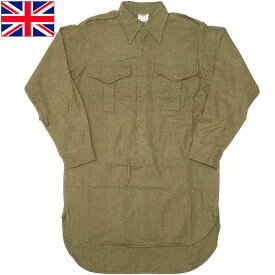sale イギリス軍 フィールドシャツ ウール ロング丈 50s USED