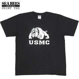 1点ならメール便可 オリジナルプリント 半袖Tシャツ 『バーク ブルドッグ』 【ブラックxホワイト】
