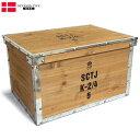 sale YMCLKYオリジナル デンマーク軍タイプ ウッドボックス L BX166YN