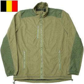 ベルギー軍 フリースジャケット ウインドストッパー オリーブ デッドストック JJ256NN
