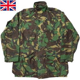 イギリス軍 コンバット スモック DPM USED JJ280UN 実物 軍モノ 軍物 男性 戦闘服 フィールド ジャケット アウター JKT カモフラージュ 迷彩柄